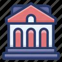 academy building, building, educational institute, school, school infrastructure icon