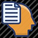 education, human knowledge, information, intelligence, study icon