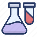 chemical experiment, chemical flask, lab accessories, laboratory apparatus icon