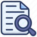 document review, document tracking, documents analysis, documents search, file analysis icon