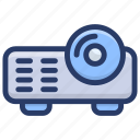 multimedia, output device, ppt, ppt presentation, projection device, projector icon