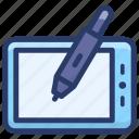digital artboard, digital tablet, digitizer, graphic tablet, pen tablet icon