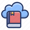 cloud learning, distance learning, e learning, online education, online learning icon