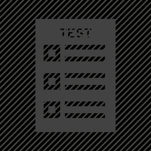 computer, internet, online, quiz, test, testing, web icon