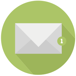 design, mail, new, notification, one icon