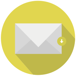 document, download, mail, save icon