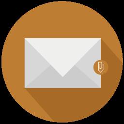 clip, design, file, mail icon