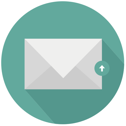 mail, new, upload icon