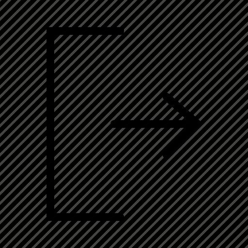 arrow, exit, interface, logout, ui, user icon