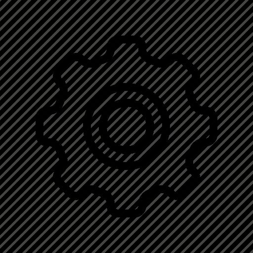 gear, interface, settings, setup, ui, user, wheel icon