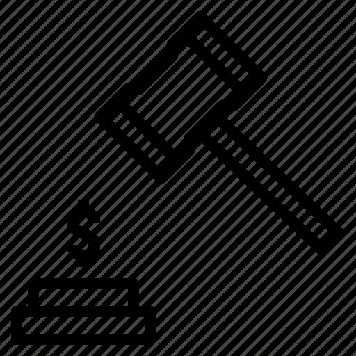 Auction, bid, hammer icon - Download on Iconfinder