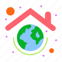 earth, globe, green, protection, roof