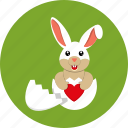 easter, egg, bunny icon