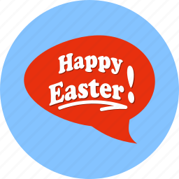 chat, easter, egg icon