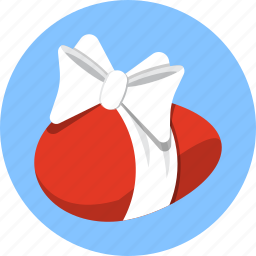 easter, egg, ribbon icon