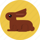 bunny, chocolate, easter, rabbit icon
