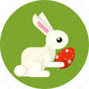 bunny, easter, egg, gift, rabbit icon