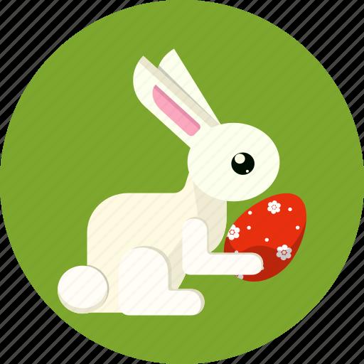 bunny, easter, egg, gift, rabbit icon