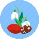 easter, egg, snowdrops, spring icon