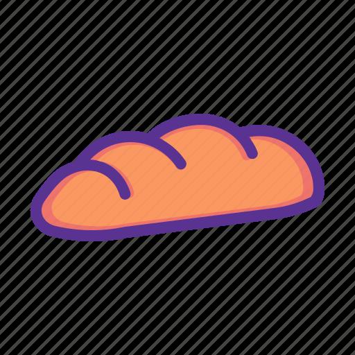 bake, bakery, bread, breakfast, gluten, slice, wheat icon