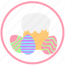 easter, easter pie, eggs, holiday, mini, pie icon