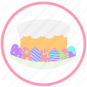 celebrate, celebrating, easter, easter pie, eggs, holiday, pie icon
