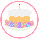celebrate, easter, easter pie, eggs, food, holiday, pie icon