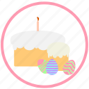 celebrating, easter, easter pie, eggs, food, pie icon