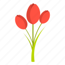 floral, flower, nature, plant, spring, summer, tulips icon
