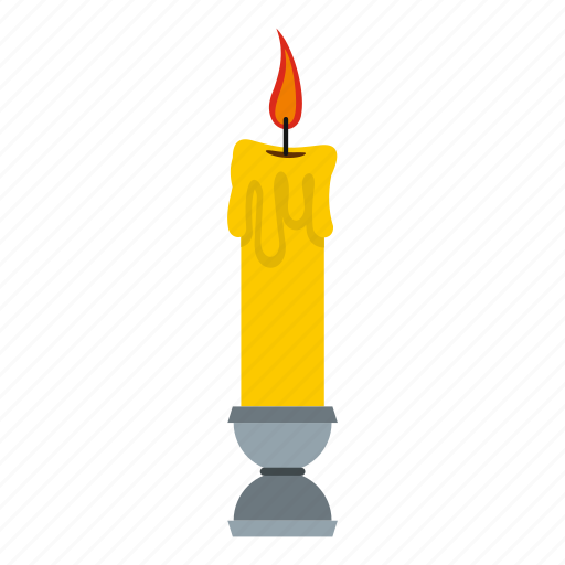 candle, church, fire, flame, light, lightning, wax icon
