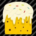 baked, cake, cupcake, dessert, easter, easter cake, greeting icon