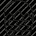 basket, celebration, easter, egg, happy, holiday, religion icon