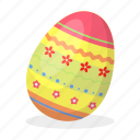 attribute, easter, egg, holiday, painted, pattern, religious
