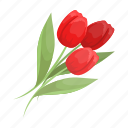 attribute, easter, flower, holiday, religious, tulip icon