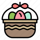 basket, easter, egg, nature icon