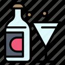 bottle, easter, glass, wine