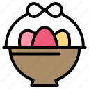 basket, easter, egg icon