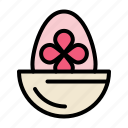boiled, easter, egg, food icon