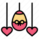 easter, egg, heart, holiday icon