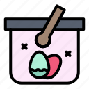 basket, cart, easter, egg icon