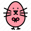 baby, chicken, easter, happy icon