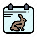 calender, date, day, easter icon