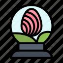 easter, egg, glass, globe icon
