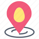 easter, location, map, pin