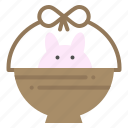 baby, basket, cart, nature icon