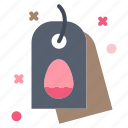 easter, egg, nature, tag icon