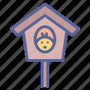 birdhouse, chicken, nest, spring icon