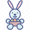 bunny, easter, egg, rabbit