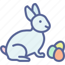 bunny, egg, paschal, rabbit icon