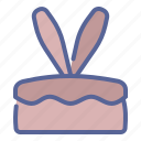 bunny, cake, chocolate, easter icon